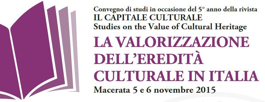 """5-6.11 """"La valorizzazione dell'eredità culturale in Italia"""""""