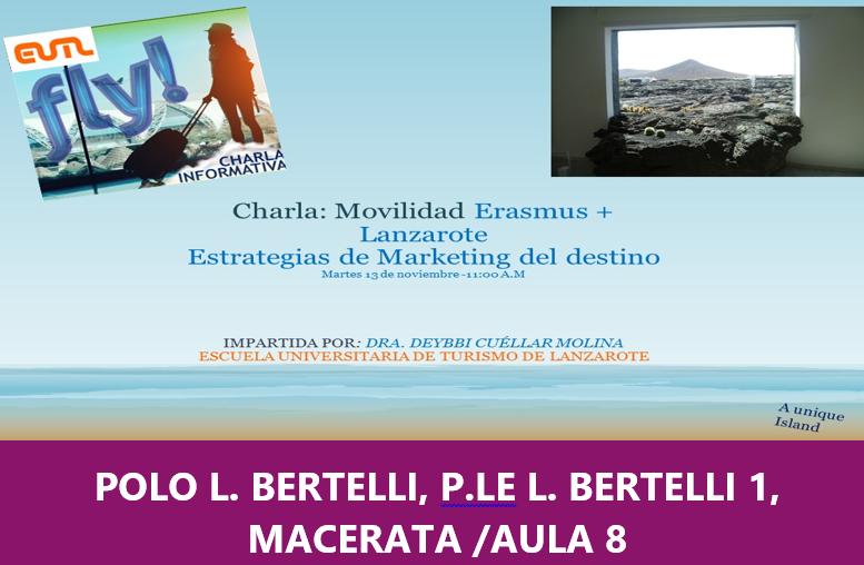 La Escuela Universitaria de Turismo de Lanzarote (Canarie)  come destinazione Erasmus