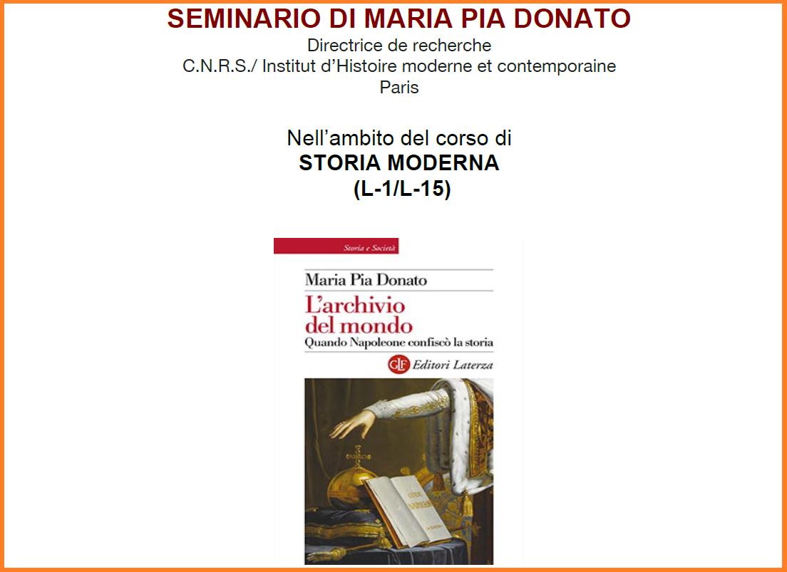 """Seminario """"L'archivio del mondo. Quando Napoleone confiscò la storia"""""""