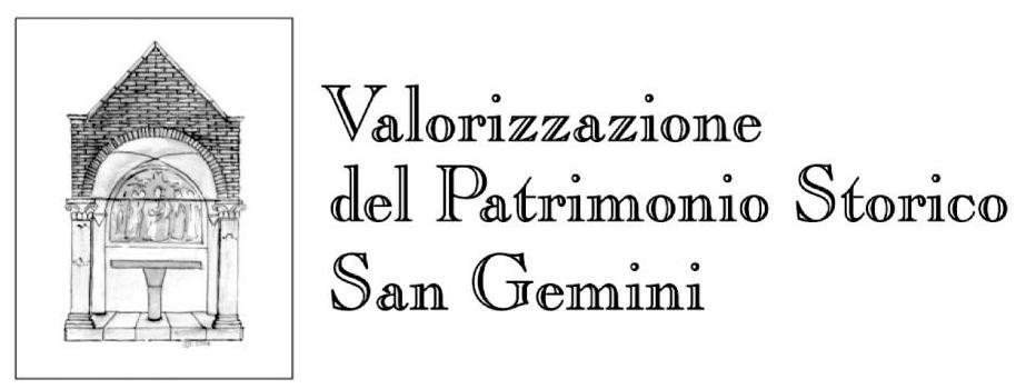 BANDO DI CONCORSO - Valorizzazione del patrimonio storico San Gemini