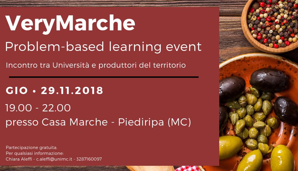 "Workshop ""Very Marche"" - 29 novembre 2018"